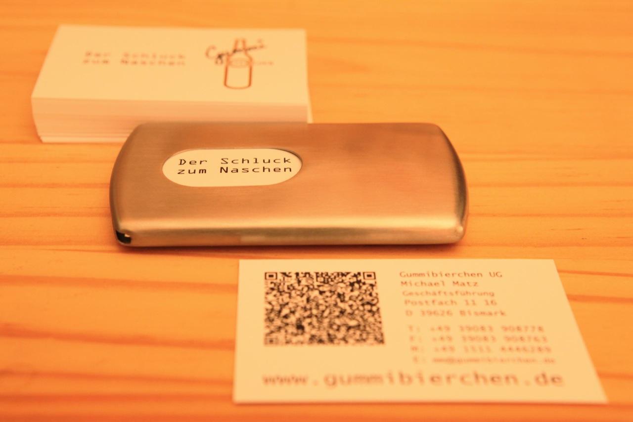 Kontaktdaten / Visitenkarte Gummibierchen