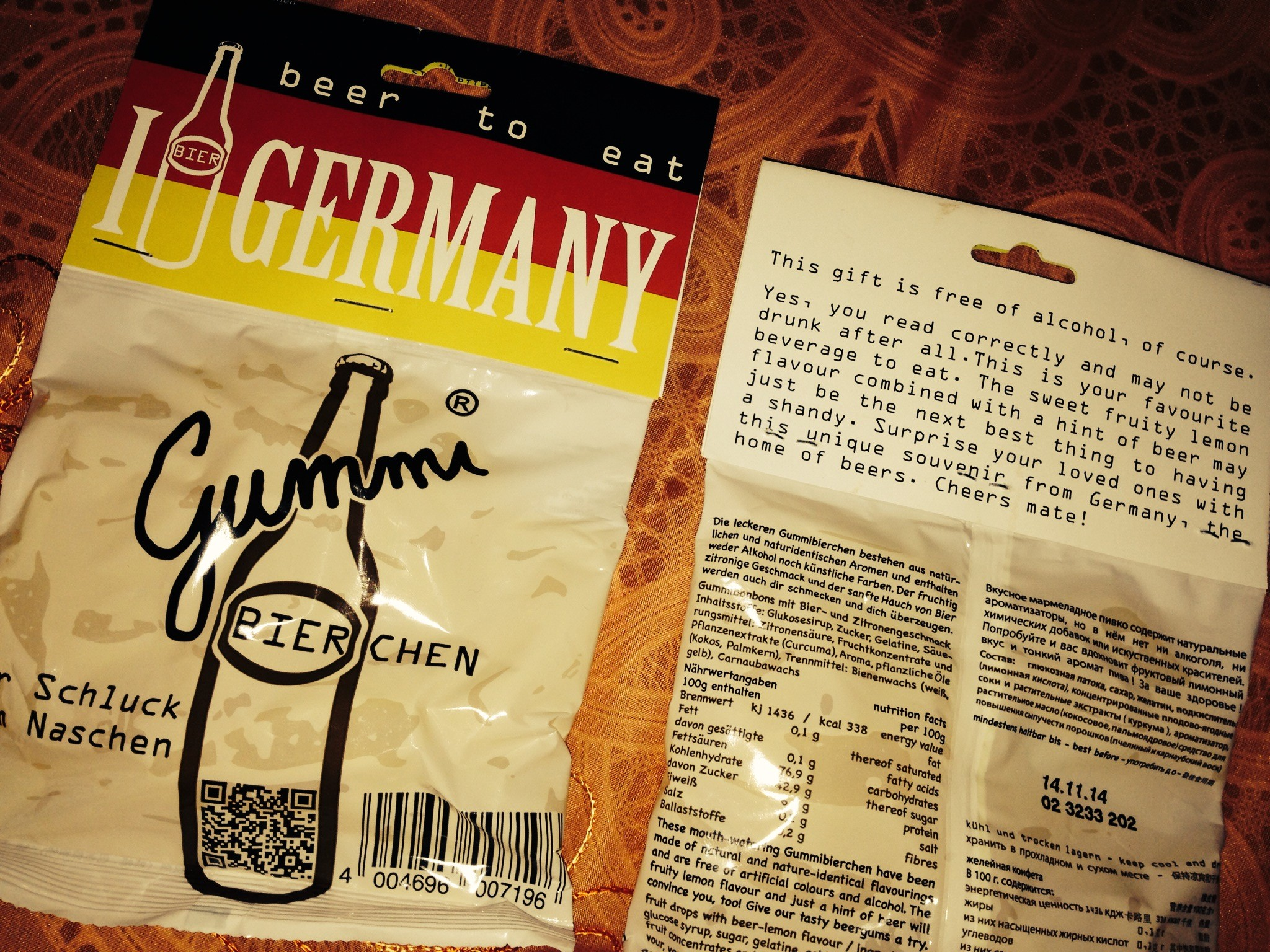 I beer Germany  - Gummibierchen for tourists - beer-flavoured jellies