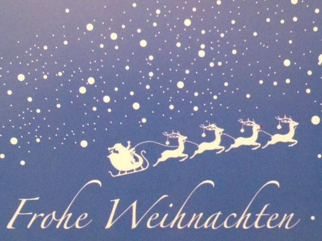 """Frohe Weihnachten wünscht """"Der Schluck zum Naschen"""""""